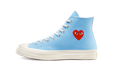 Converse Chuck Taylor All-Star 70s Hi Comme des Garcons Play Bright Blue