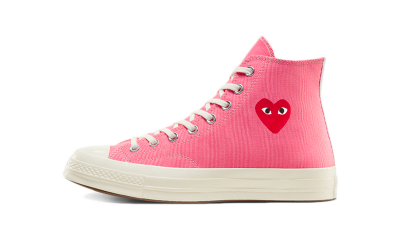 Converse Chuck Taylor All-Star 70s Hi Comme des Garcons Play Bright Pink
