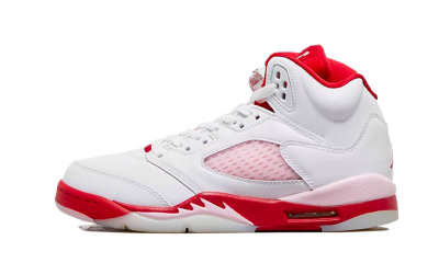 Jordan 5 Retro White Pink Red (GS)