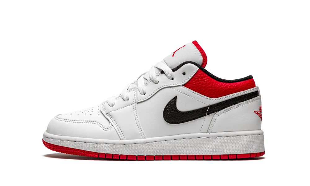 Air Jordan 1 Low 'University Red Black' (GS) - 553560-118 - Restocks