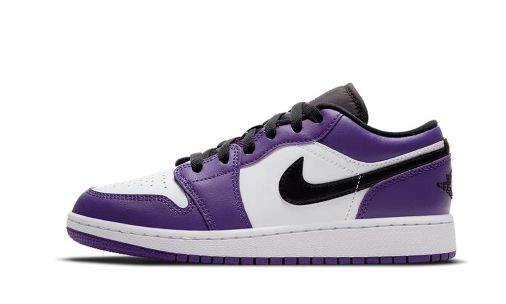Jordan 1 Low Court Purple White (GS) - 553560-500 - Restocks