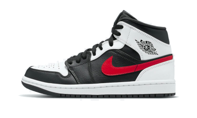 Jordan 1 Mid Black Chile Red White