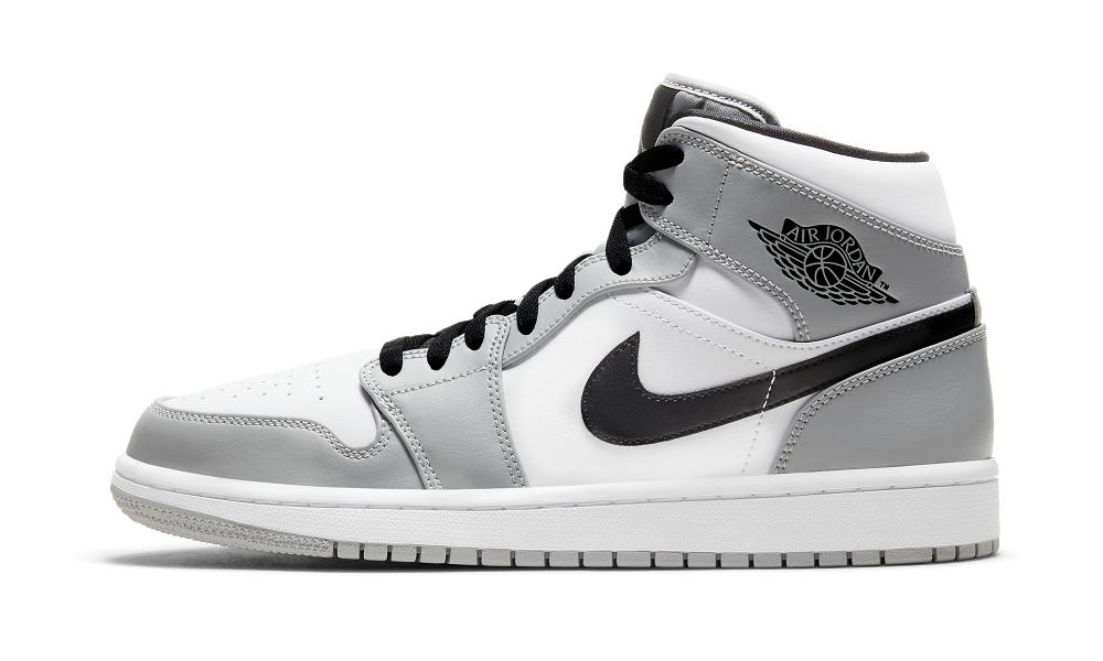 Jordan 1 Mid Light Smoke Grey - 554724