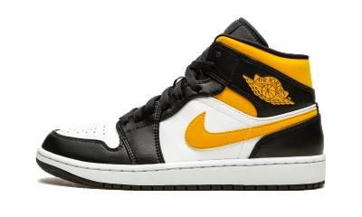 Air Jordan 1 Mid White Pollen Black
