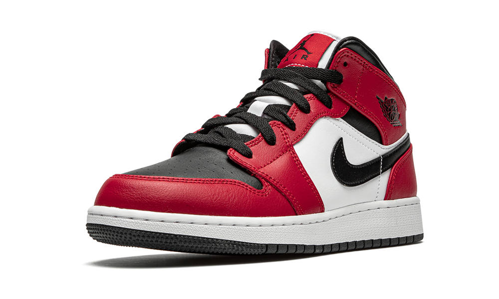 Air Jordan 1 Mid Chicago Black Toe (GS) - 554725-069 - Restocks