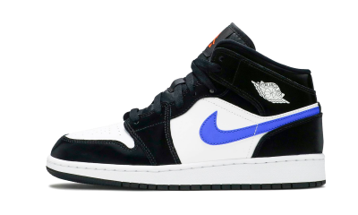 Jordan 1 Mid Black Racer Blue (GS)