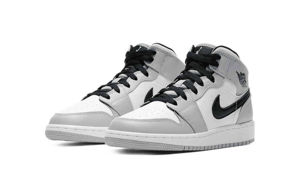 Jordan 1 Mid Light Smoke Grey (GS) - 554725-092 - Restocks