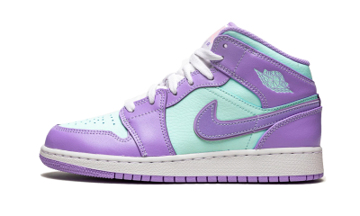 Air Jordan 1 Mid Purple Aqua (GS)
