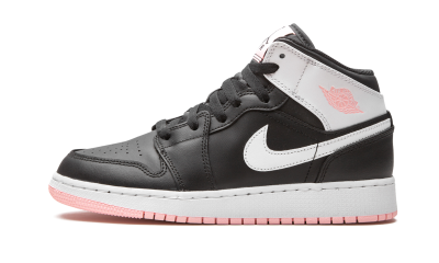 Jordan 1 Mid 'Black Arctic Pink' (GS)