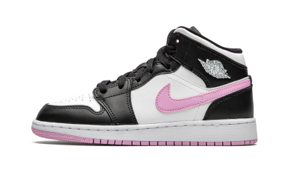 Air Jordan 1 Mid 'White Light Arctic Pink' GS