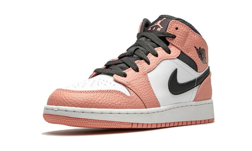 Jordan 1 Mid Pink Quartz (GS) - 555112-603 - Restocks