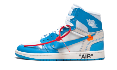 Air Jordan 1 Retro High Off-White University Blue ''UNC''