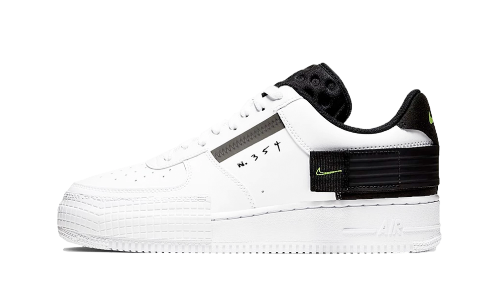 [Image: nike-air-force-1-drop-type-white-black-volt-1-1000.png]