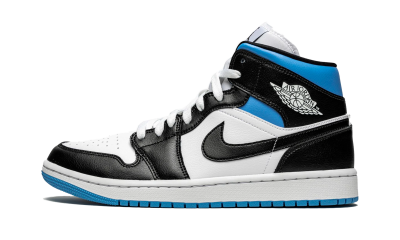 Air Jordan 1 Mid Royal Black and Blue (W)