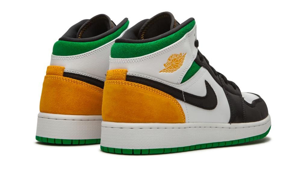 green and orange jordan 1