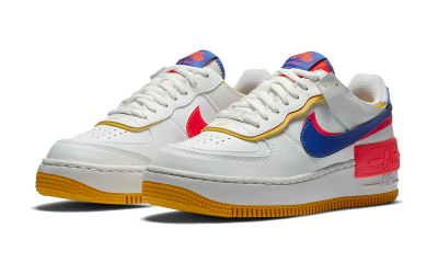 Nike Air Force 1 Shadow White Flash Crimson Astronomy Blue (W)