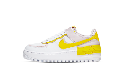 Nike Air Force 1 Shadow White Barely Rose Speed Yellow (W)