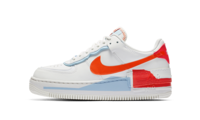 Nike Air Force 1 Shadow Summit White Team Orange (W)