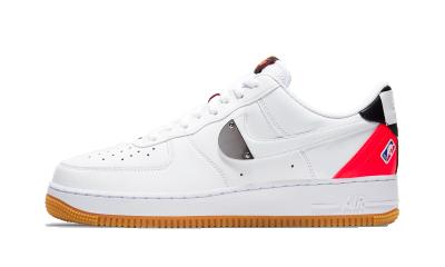 Nike Air Force 1 Low NBA White Crimson Gum
