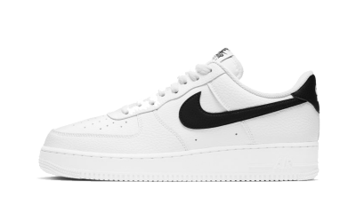 Nike Air Force 1 07' White Black Pebbled Leather