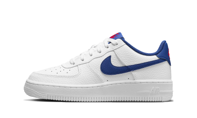 Nike Air Force 1 White Blue Swoosh (GS)