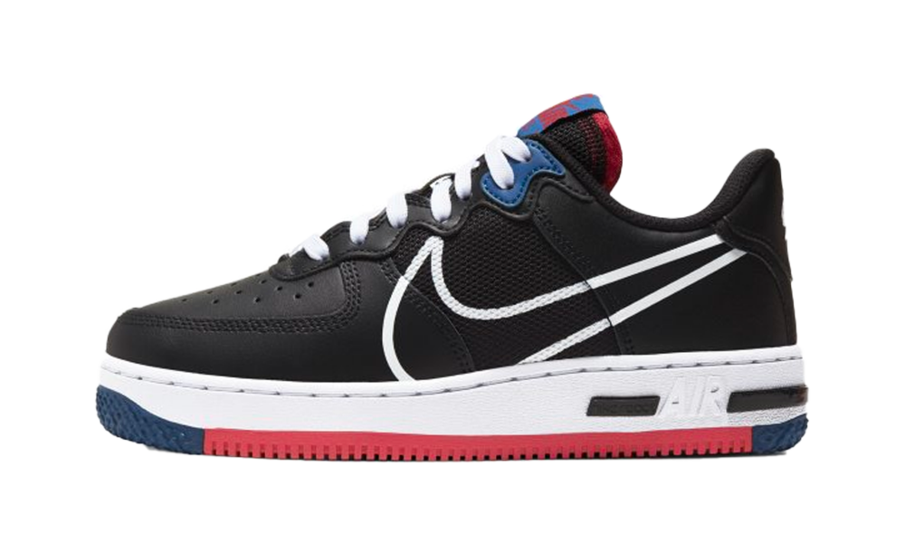 Nike Air Force 1 Low React Black Gym Red (GS) - CT5117-002 - Restocks