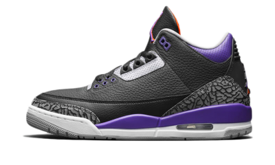 Air Jordan 3 Retro Black Court Purple