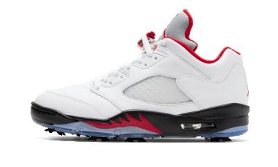 Air Jordan 5 Retro Low Golf Fire Red (Silver Tongue)