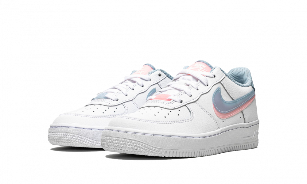 Nike Air Force 1 LV8 Double Swoosh Blue Pink (GS) - CW1574-100 ...