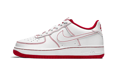 Nike Air Force 1 White Red (GS)