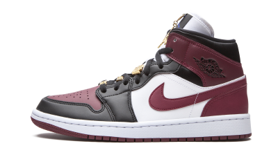 Air Jordan 1 Mid SE Black Dark Beetroot (W)