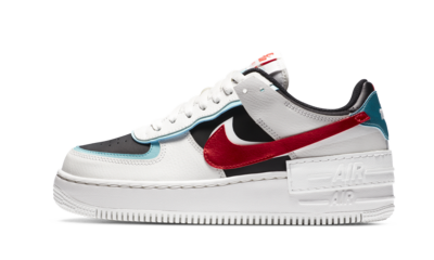 Nike Air Force 1 Shadow Bleached Aqua Chile Red (W)
