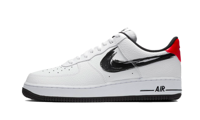 Nike Air Force 1 Low Brushstroke White Black