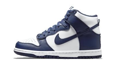 Nike Dunk High Navy White (GS)