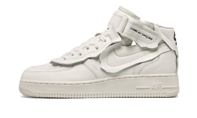 Nike Air Force 1 Mid Comme des Garcons White