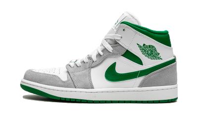 Air Jordan 1 Mid Grey Green