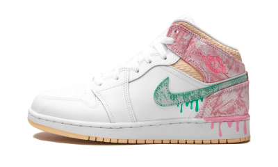 Air Jordan 1 Mid Paint Drip (GS)