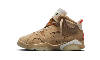 Air Jordan 6 Retro Travis Scott 'British Khaki' (PS)