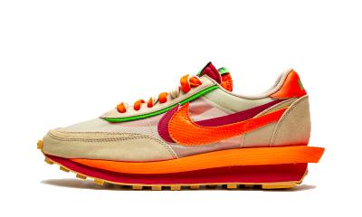 Nike LD Waffle x sacai x Clot Net Orange