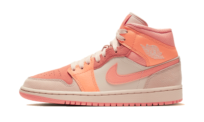 Air Jordan 1 Mid Apricot Orange Terra Blush