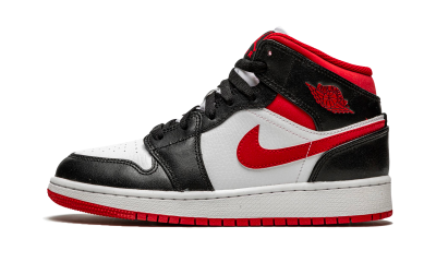 Air Jordan 1 Mid Gym Red Black White (GS)