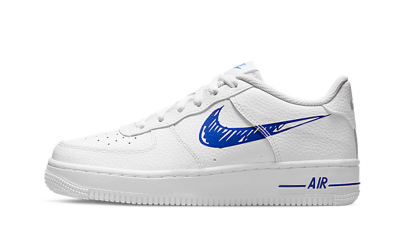 Nike Air Force 1 Sketch Blue Swoosh (GS)