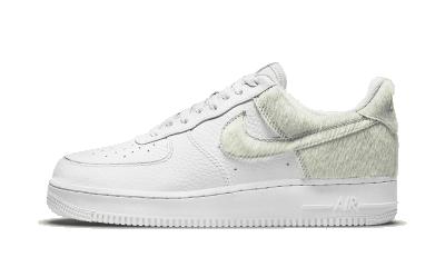 Nike Air Force 1 Low White Pony Hair Heel (W)