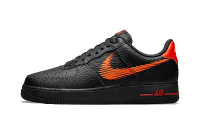 Nike Air Force 1 Low Zig Zag Black Orange