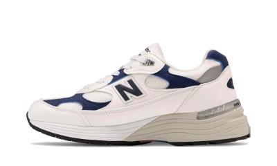 New Balance 992 White Navy