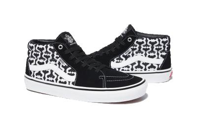 Vans Skate Grosso Mid Supreme Monogram S Logo Black