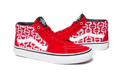 Vans Skate Grosso Mid Supreme Monogram S Logo Red